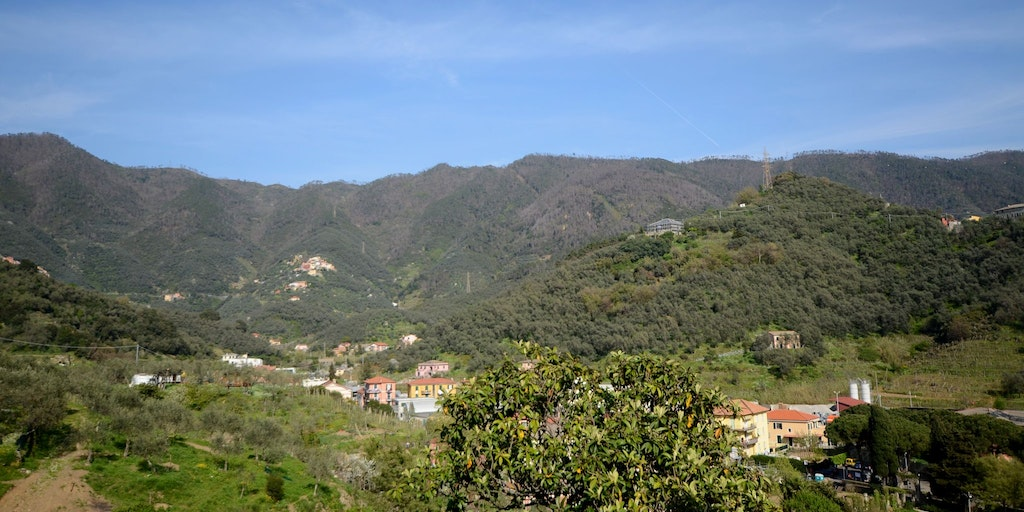 Mountainous landscape typical of Liguria