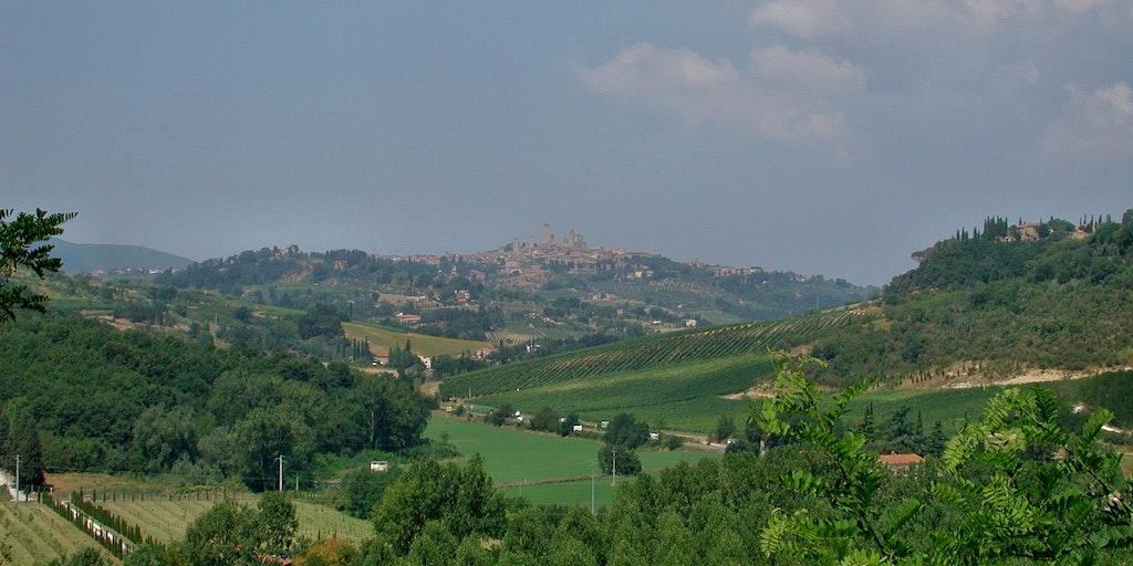 Landskapet vid San Gimignano