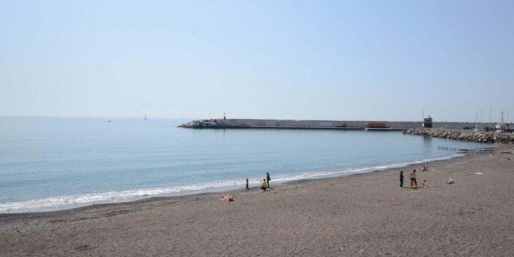 The beach in Lavagna