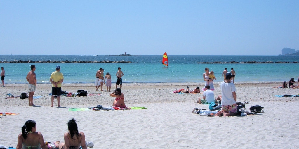 Lido Beach just off Alghero