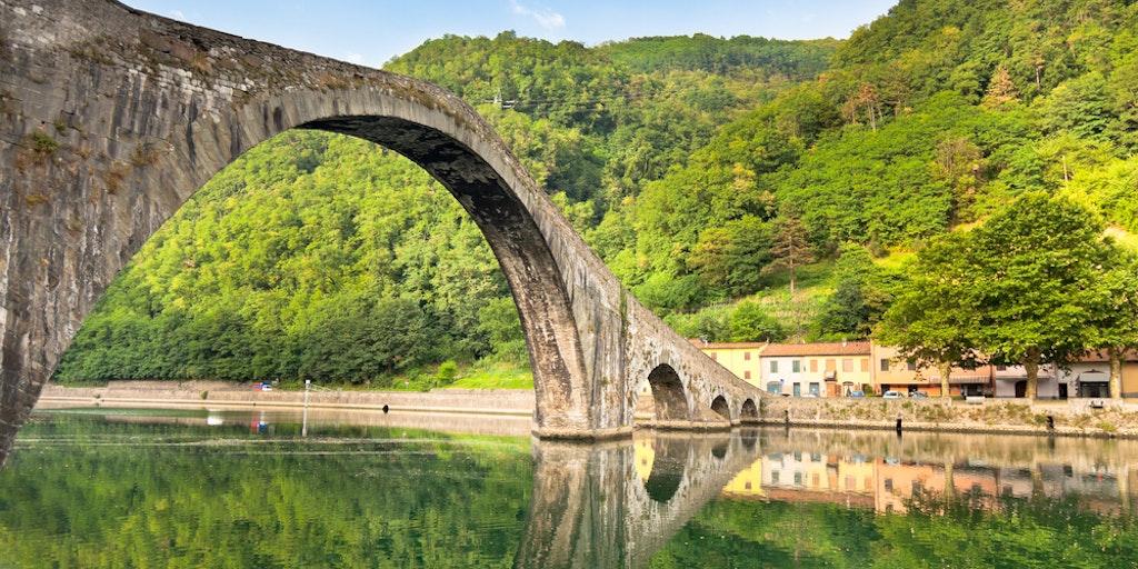 Ponte della Maddalena - also known as the Devil's Bridge