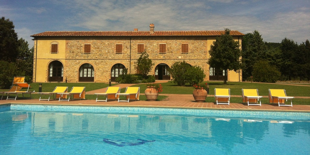 The building Colonica at Podere la Pieve Vecchia in Tuscany