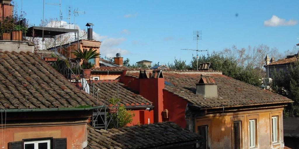 Udsigt fra lejligheden Terrazza Benedetta i Rom