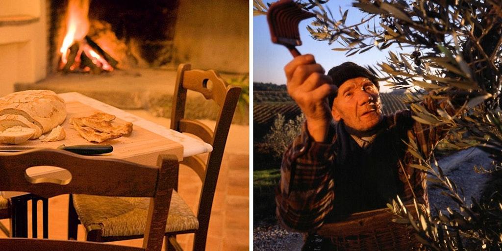 Fettunta: du pain grillé avec de l'huile d'olive
