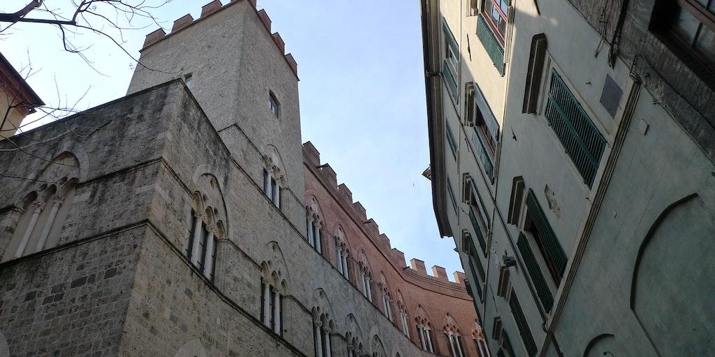 Palazzo Chigi-Saracini husar i dag Sienas musikakademi