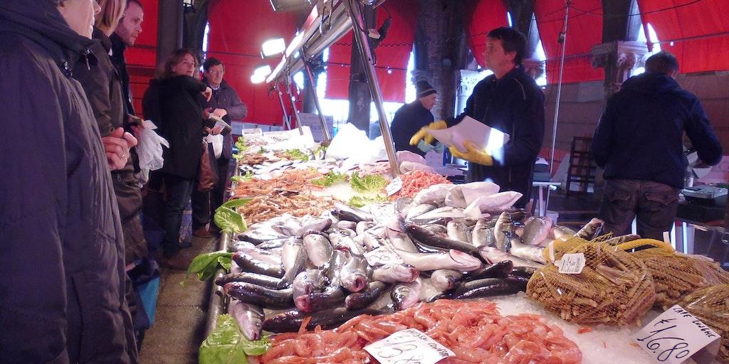 The fish market in Venice