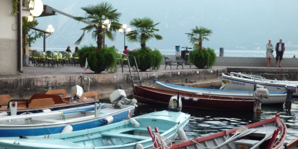 Le port de la ville d'Iseo