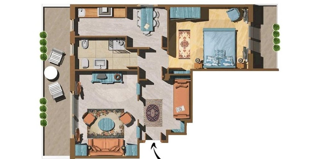 Example of 1 bedroom apartment