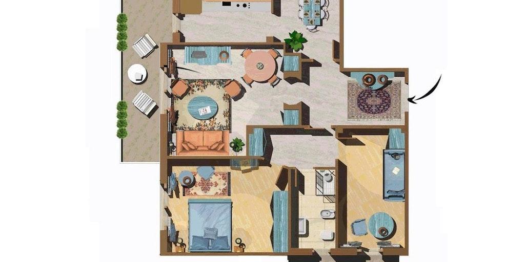 Beispiel für eine Dreizimmerwohnung
