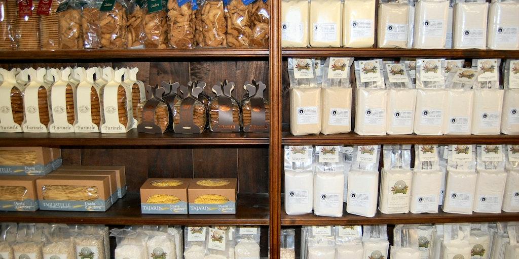 Kvarn-butiken på B&B Fior di Farine