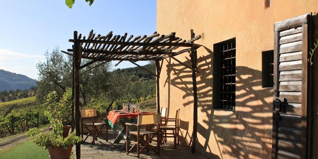 La terrasse de l'appartement La Tinaia