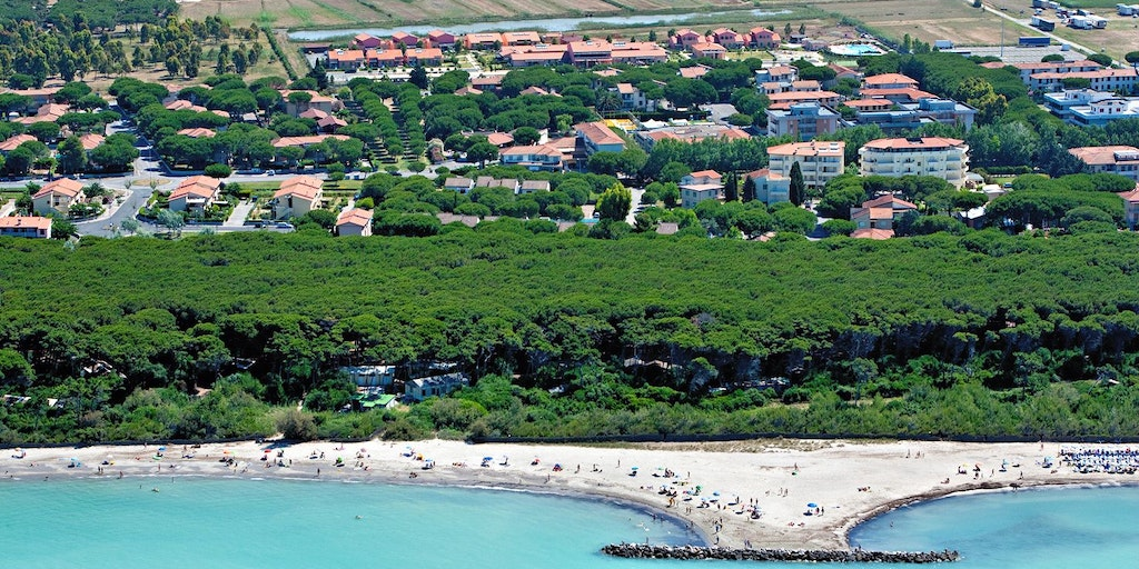 At Vada you'll find a classic Tuscan beach with a pine forest behind
