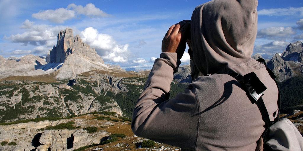 Utsikt över Dolomiterna