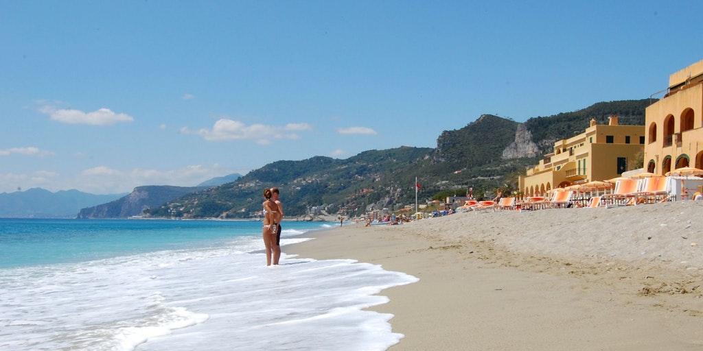 Beach at Varigotti in Liguria