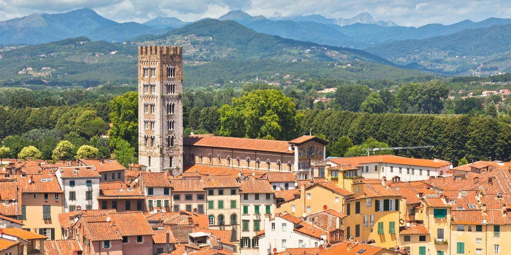 Lucca as seen from above