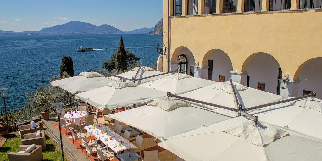 Utsikt från restaurangens terrass