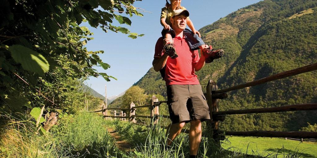 Regionen byder på vandrestier i alle sværhedsgrader - her i Val Venosta