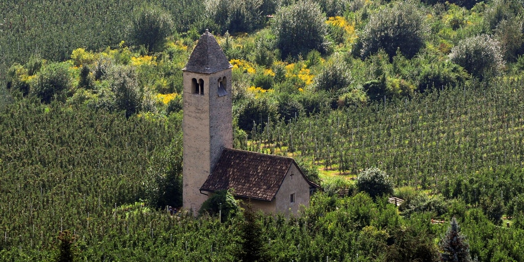 The small church in San Procolo a Naturno
