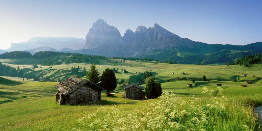Eine atemberaubende Berglandschaft - hier die Seiser Alm