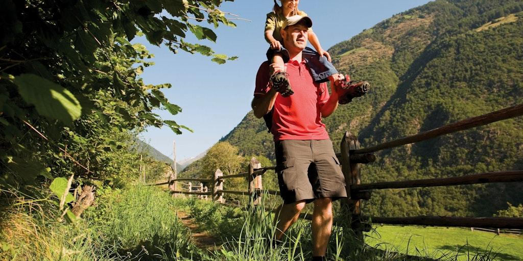 Die Region bietet Wanderwege mit verschiedenen Schwirigkeitsgraden an - hier im Vinschgau