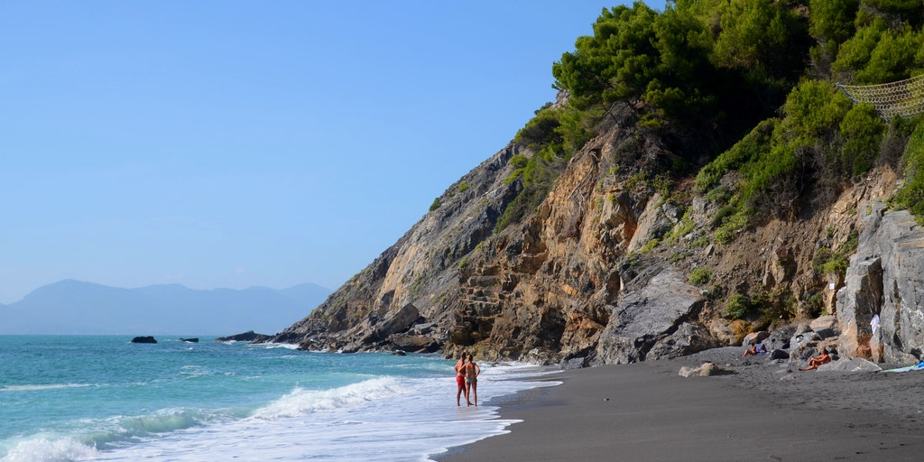 Secret sandy bay at Monte Marcello