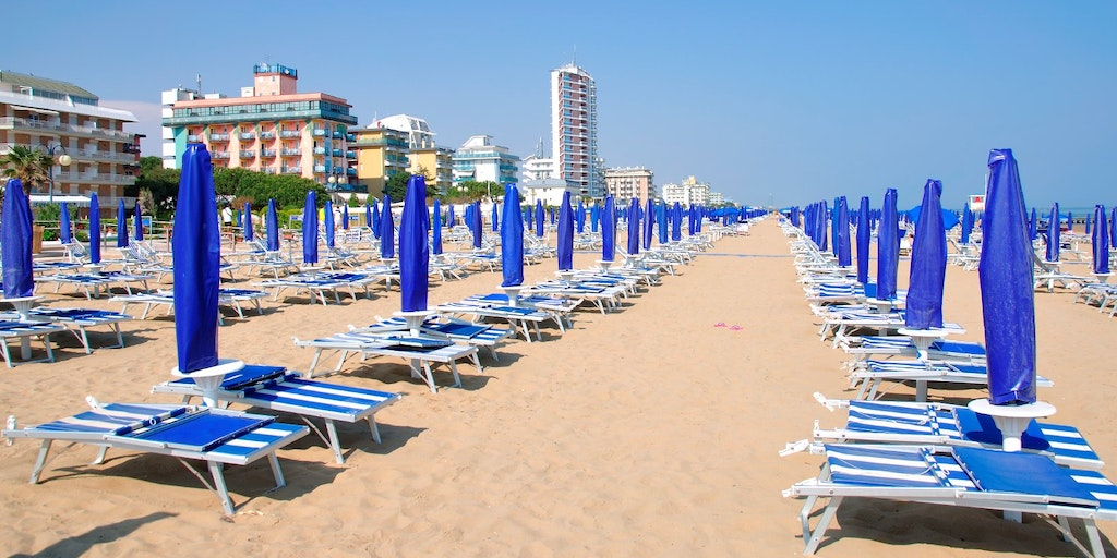 Clean fine sandy beach in Jesolo, near Venice