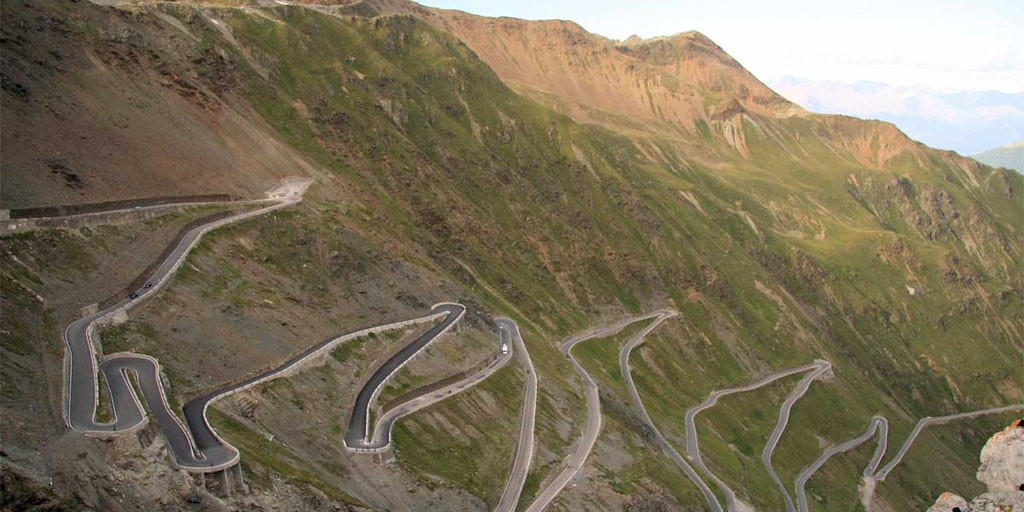 He iconic pass atStelvio - requires a good car and an experienced driver.