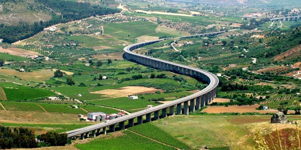 A29 in Sizilien ist eine spezielle Autostrada