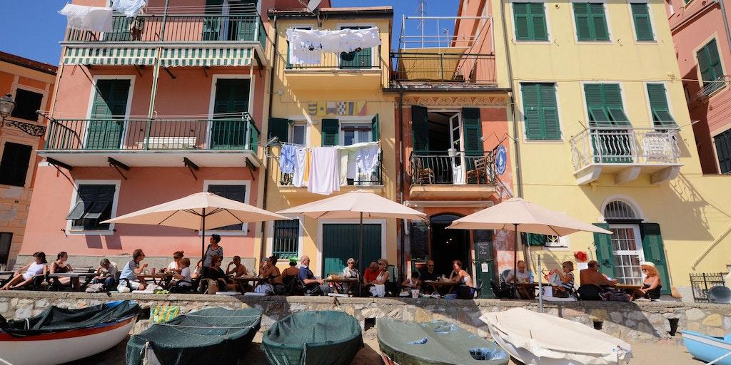 Summer atmosphere in Sestri Levante