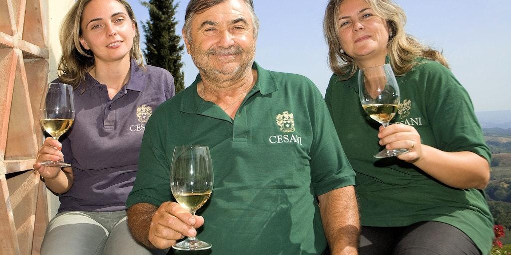 Weinproduzenten der Familie Cesani im Herzen der Toskana
