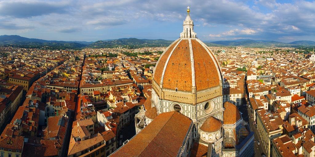 Florenz aus der Luft (Foto: Darren Po, Wikimedia Commons)