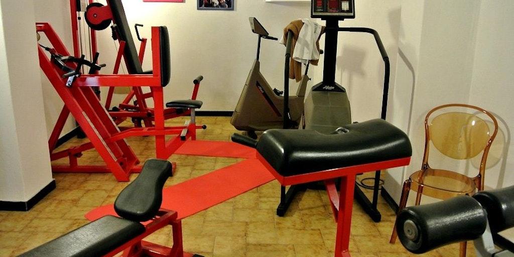 En litet gym på Residence Orchidea