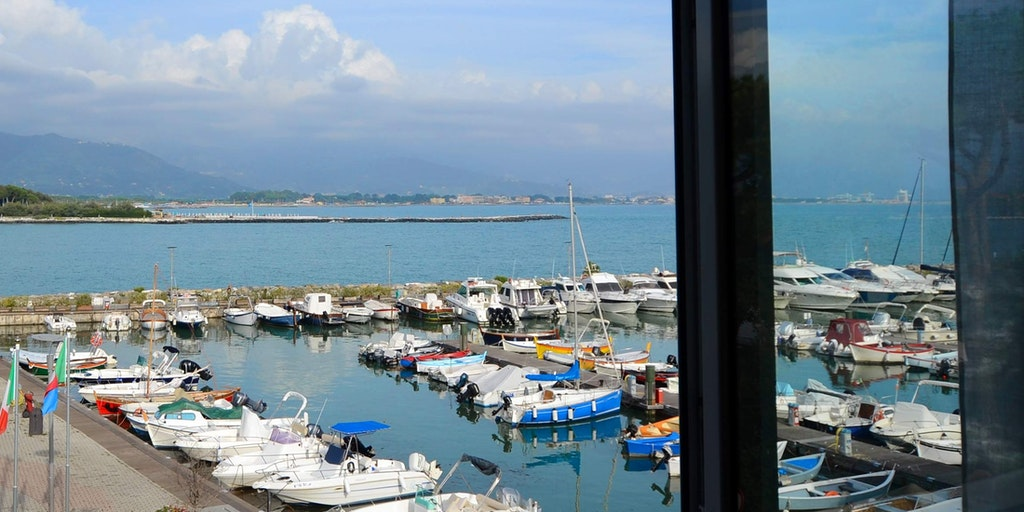 Utsikten från de rum som har havsutsikt på Hotel Sette Archi