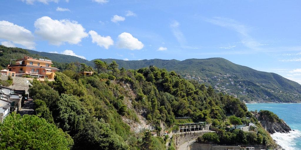 Charakteristische ligurische Landschaft