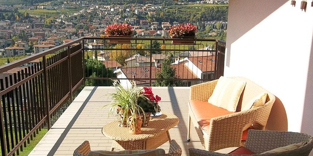 Terrasse til dobbeltværelset Azzurra