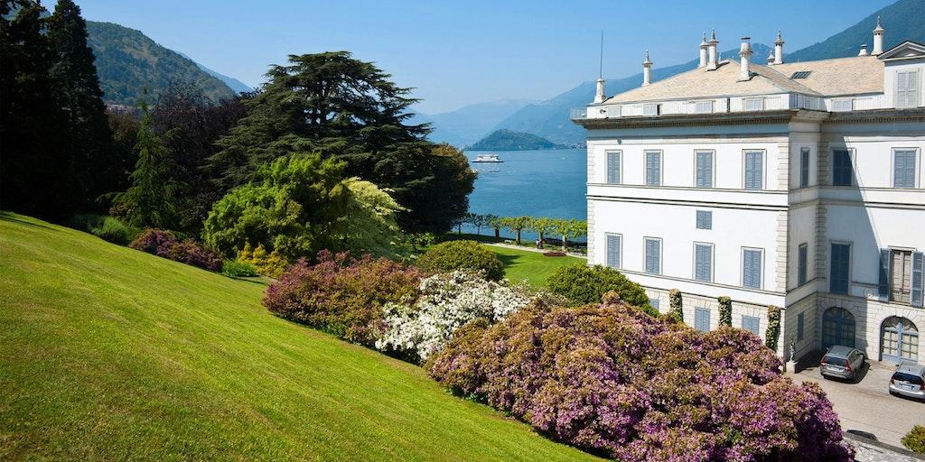 Den berømte Villa Melzi ved Comosøen