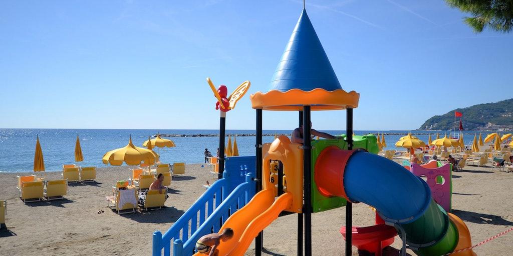 Child friendly swimming location