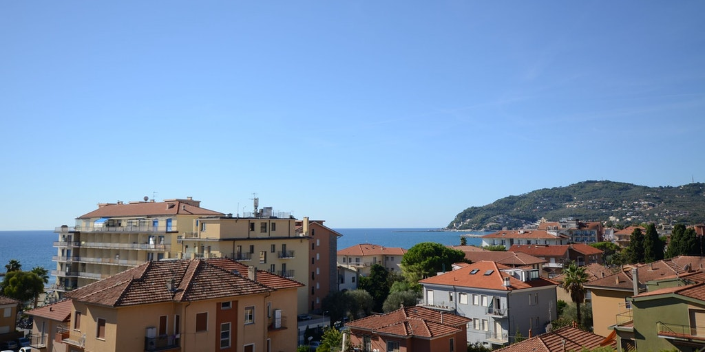 Sea view from the rooftop terrace