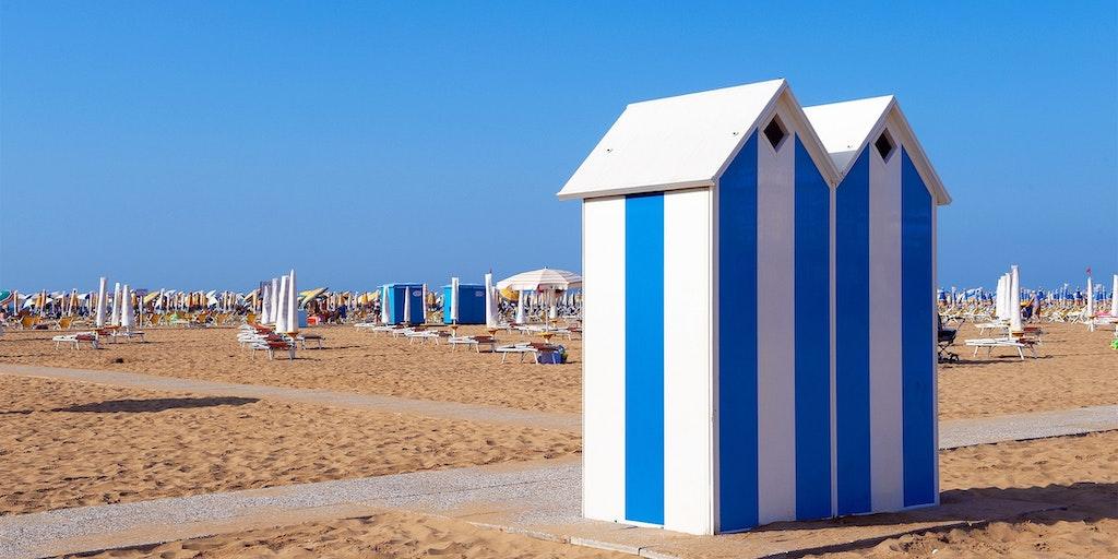 Stränderna vid Lidon ut till Adriatiska havet är populära
