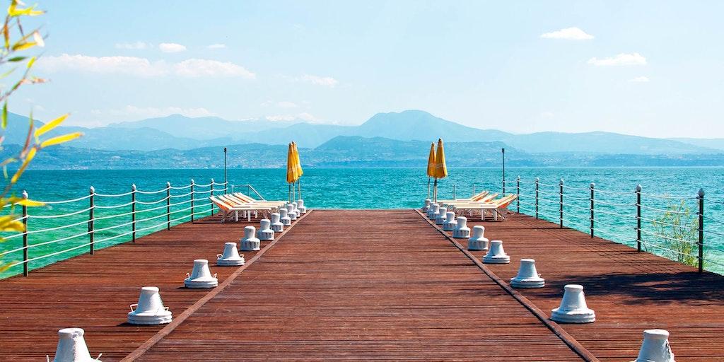Sjöarna i Norditalien har klart och inbjudande badvatten