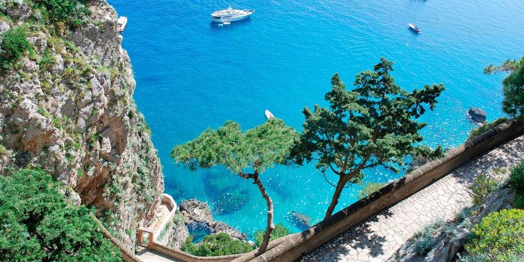 Vannet ved Capri er krystallklart