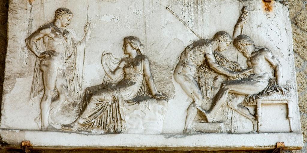 Et fresco fra ruinene ved Herculaneum