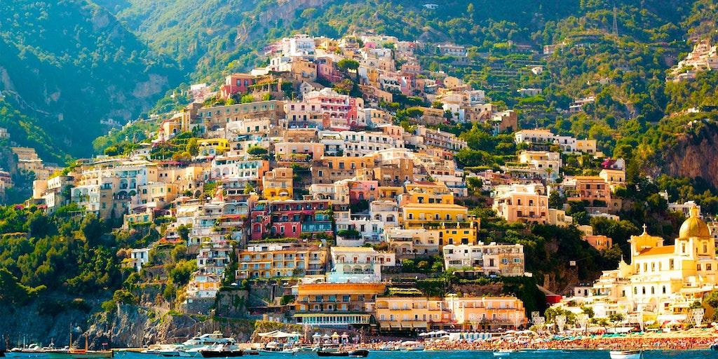 Positano er en av de mest velkjente byene på Amalfikysten