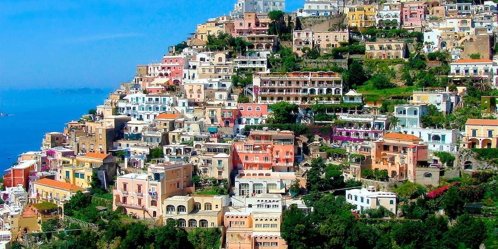 Her en anden vinkel på betagende Positano