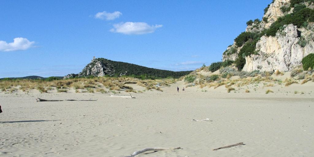 Nyd de finde sande på Maremma strande