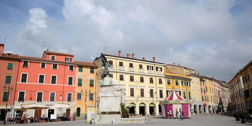 The piazza in Sarzana