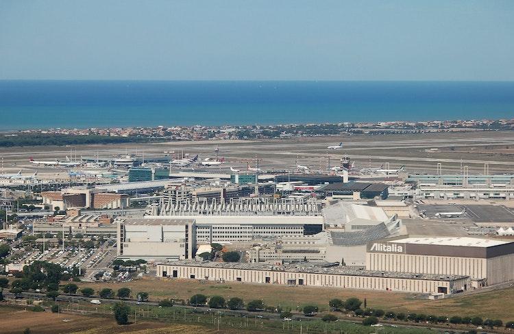 Rom Leonardo Da Vinci Flygplats Fiumicino In Italia Se