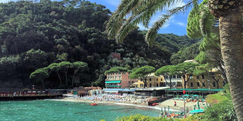 Sandlagunen Paraggi på vej til Portofino