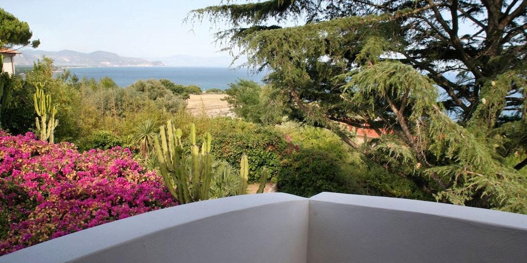 Die Aussicht von Villa La Bouganville auf das Meer