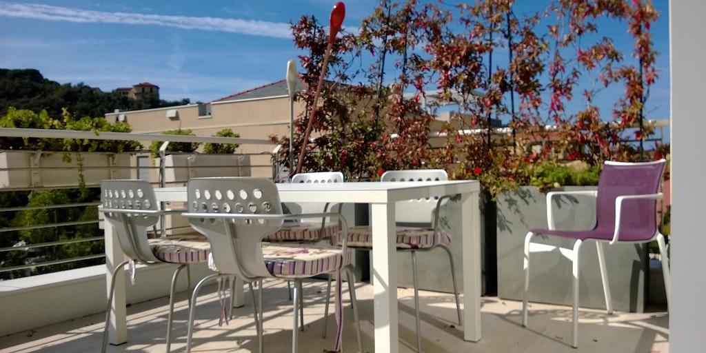 Terrasse til lejligheden B8